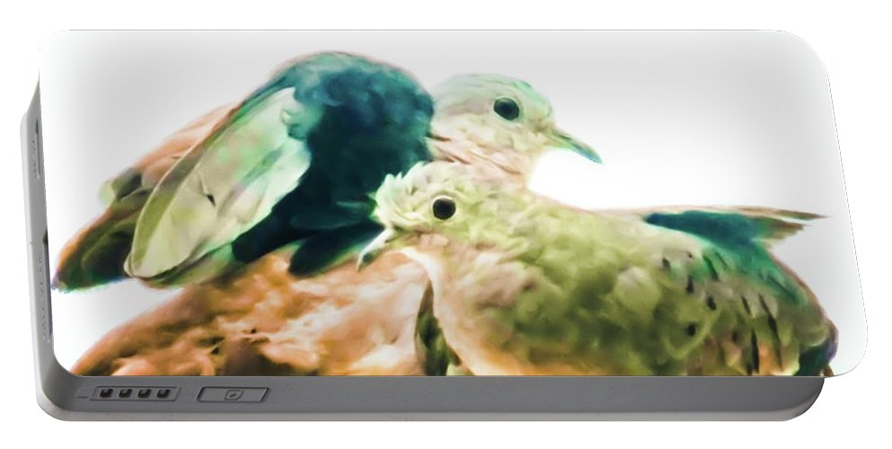 Portable Battery Charger featuring the photograph Love Birds by Sawan Jagnarain