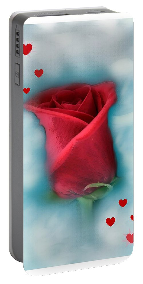 Rose Art Portable Battery Charger featuring the photograph Love Is In The Air by Linda Sannuti