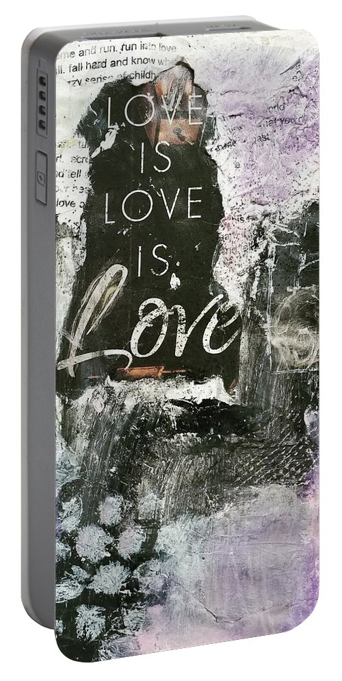 Love Portable Battery Charger featuring the painting Love is Love by Patricia Byron