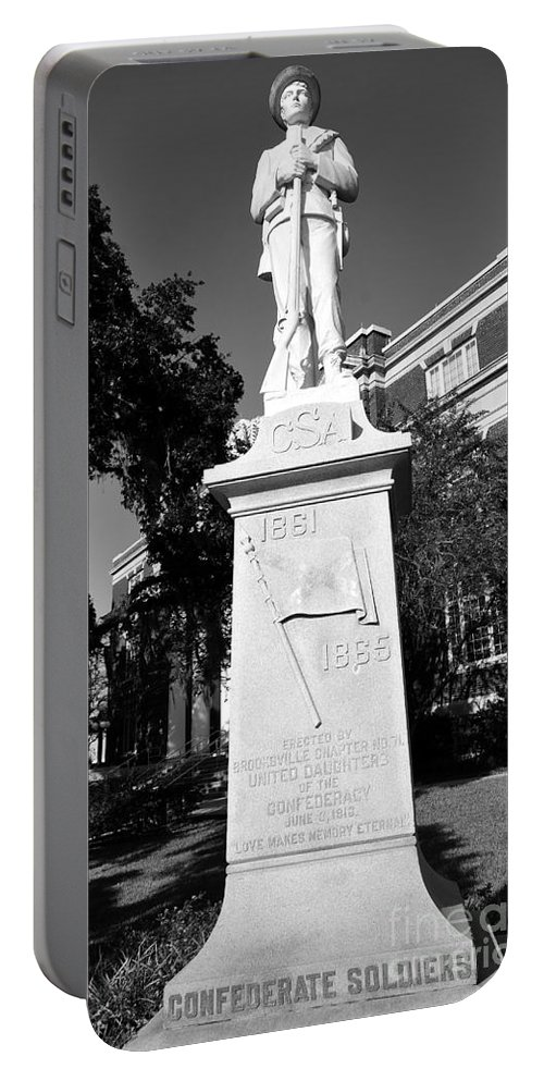 Confederate Solder Portable Battery Charger featuring the photograph Love Makes Memory Eternal by David Lee Thompson