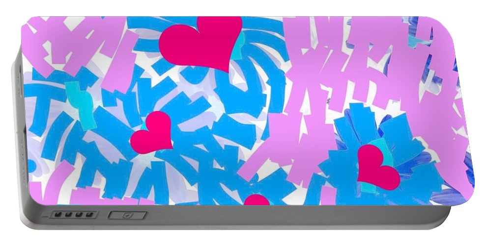 Love Portable Battery Charger featuring the digital art Love by Mary Jo Hopton
