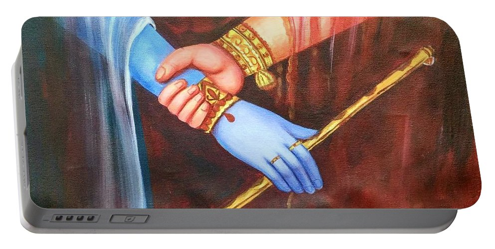 Love Portable Battery Charger featuring the painting Symbol Of Love by Sweety Lohani