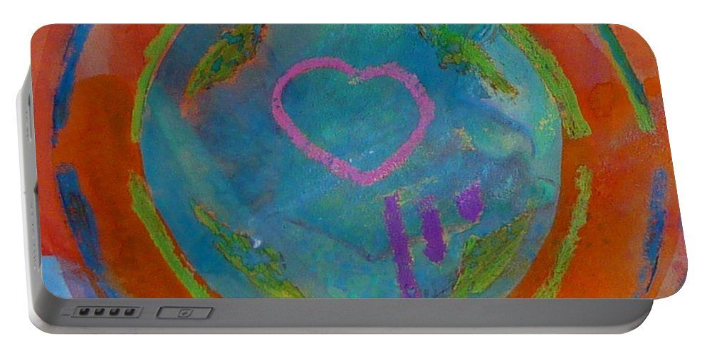 Logo Portable Battery Charger featuring the painting Love The Sea by Charles Stuart