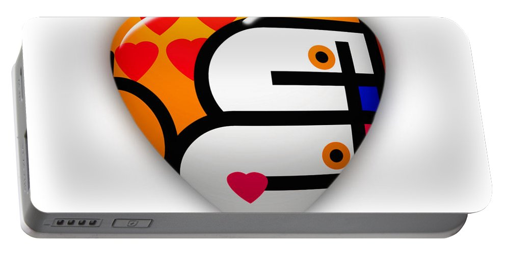 Love Portable Battery Charger featuring the painting Love You Babe by Charles Stuart