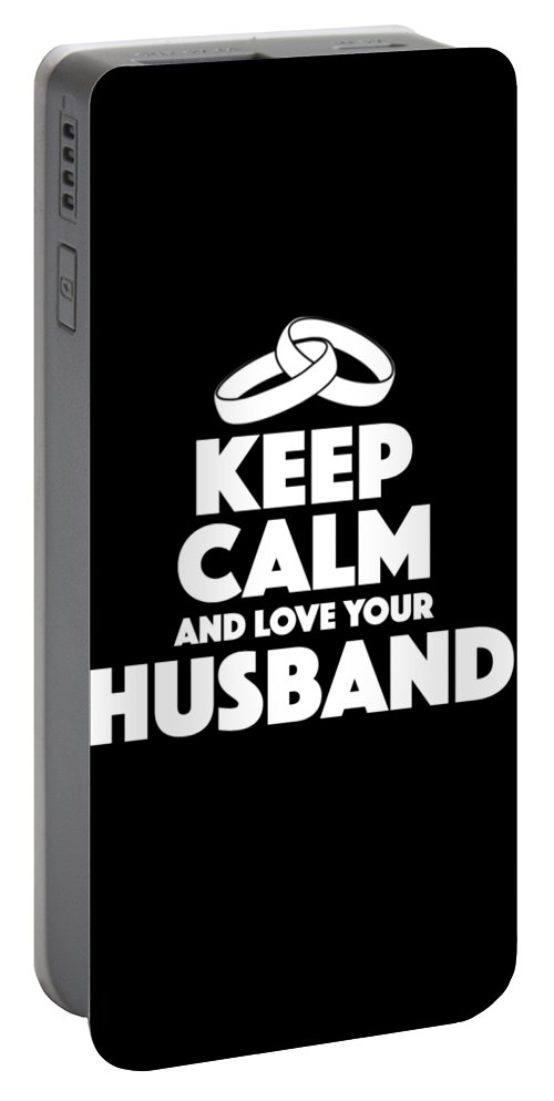 Anniversary Portable Battery Charger featuring the digital art Love Your Husband Gifts by Michael S