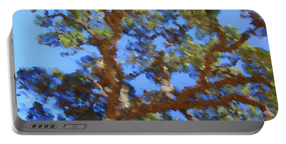 Oak Portable Battery Charger featuring the digital art Lovely As A Tree by Donna Blackhall