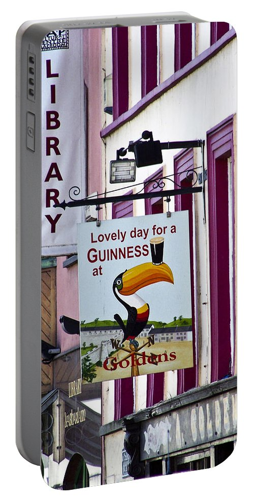 Irish Portable Battery Charger featuring the photograph Lovely Day For A Guinness Macroom Ireland by Teresa Mucha