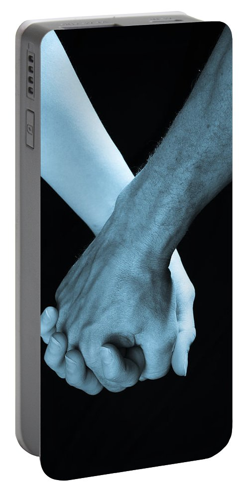 Hand Holding Portable Battery Charger featuring the photograph Lovers Hands by Scott Sawyer