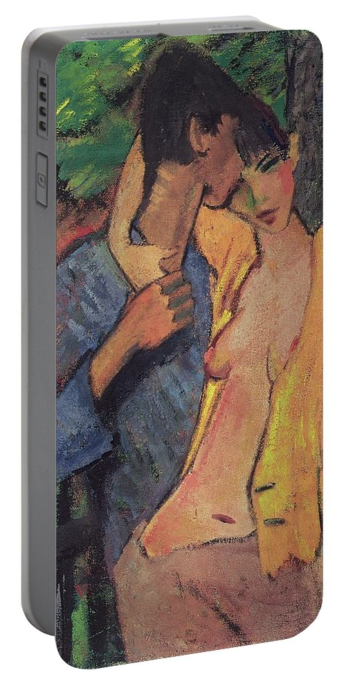 Lovers Portable Battery Charger featuring the pastel Lovers by Otto Muller