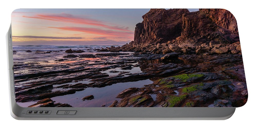 Ocean Portable Battery Charger featuring the photograph Low Tide by Dmytro Korol