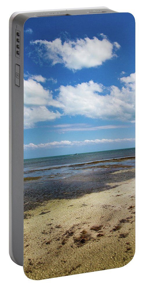 Blue Portable Battery Charger featuring the photograph Low Tide In Paradise - Key West by Bob Slitzan