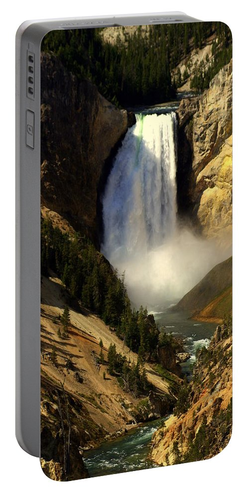 Yellowstone National Park Portable Battery Charger featuring the photograph Lower Falls 2 by Marty Koch