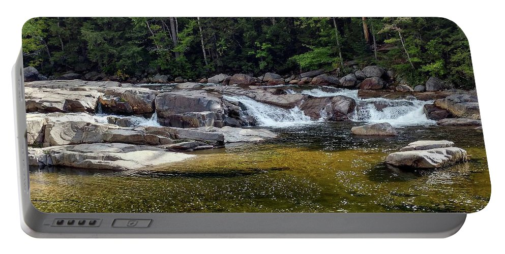 River Waterfalls Portable Battery Charger featuring the photograph Lower Falls by Bill Morgenstern