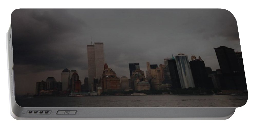 Wtc Portable Battery Charger featuring the photograph Lower Manhattan by Rob Hans
