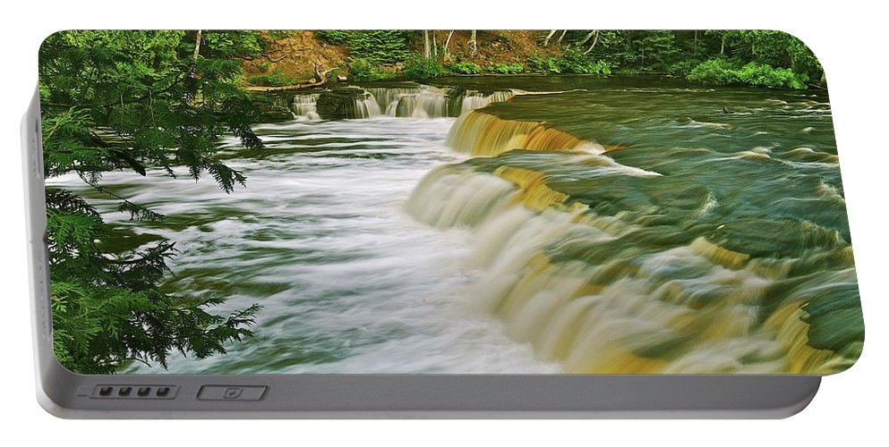 Tahquamenon Portable Battery Charger featuring the photograph Lower Tahquamenon 6200 by Michael Peychich