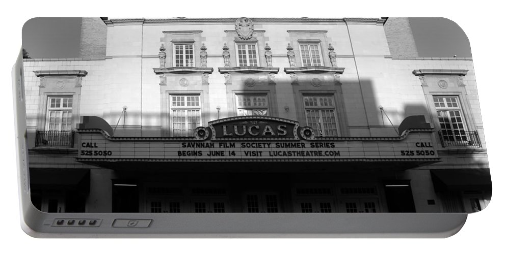 Faine Art Photography Portable Battery Charger featuring the photograph Lucas Movie House 1921 by David Lee Thompson