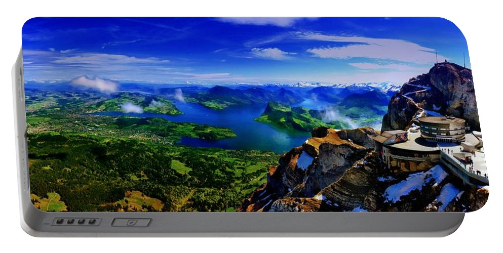 Lucerne Portable Battery Charger featuring the photograph Lucerne by Dawn Van Doorn