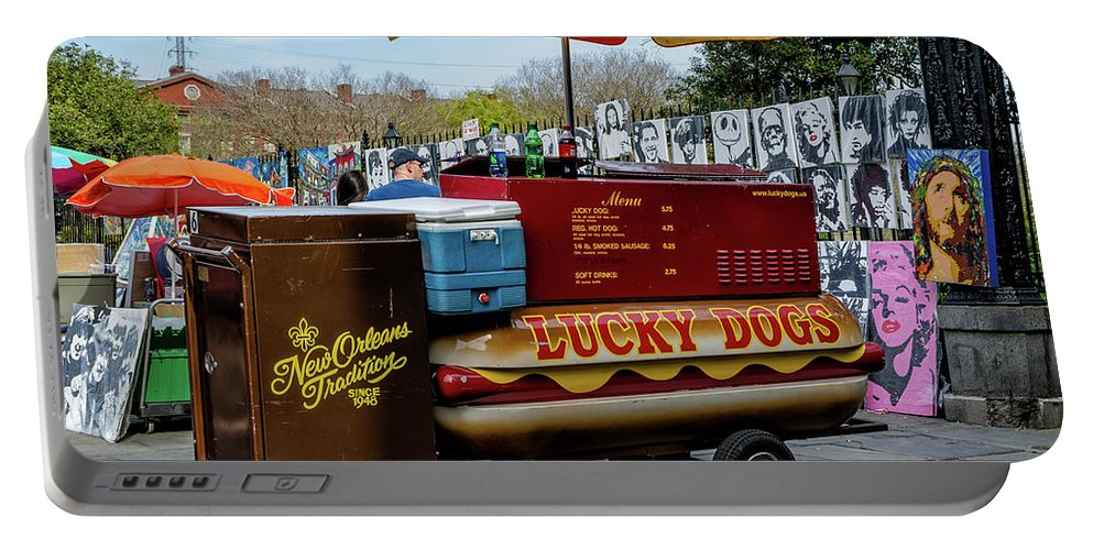 Lucky Portable Battery Charger featuring the photograph Lucky Dogs by Kathleen K Parker
