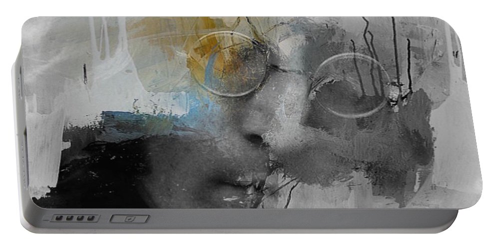 John Lennon Portable Battery Charger featuring the digital art Lucy In The Sky With Diamonds by Paul Lovering