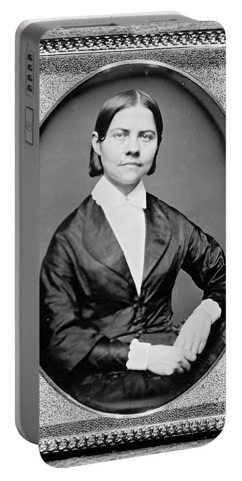 History Portable Battery Charger featuring the photograph Lucy Stone, American Abolitionist by Photo Researchers