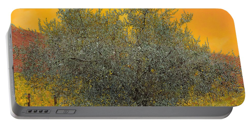 Olive Tree Portable Battery Charger featuring the painting L'ulivo Tra Le Vigne by Guido Borelli