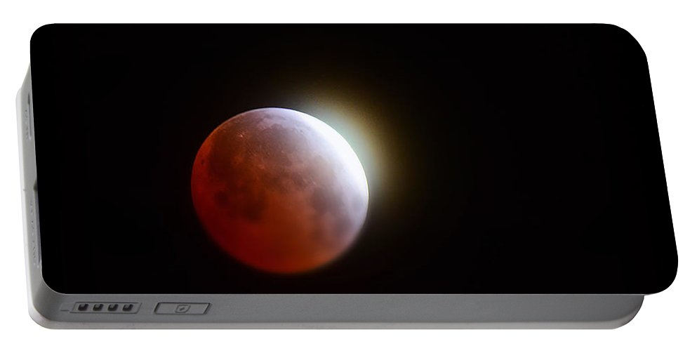 Blood Moon Portable Battery Charger featuring the photograph Lunar Eclipse 2015 by Saija Lehtonen