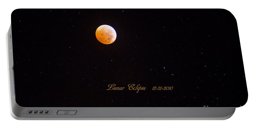 Lunar Eclipse Portable Battery Charger featuring the photograph Lunar Eclipse by Scott Pellegrin