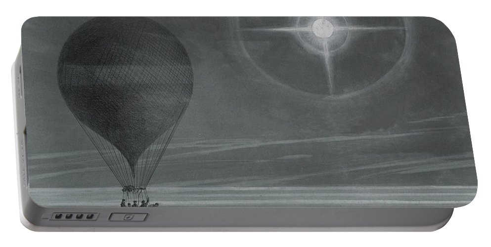 Star Portable Battery Charger featuring the drawing Lunar Halo And Luminescent Cross Observed During The Balloon Zenith's Long Distance Flight by French School