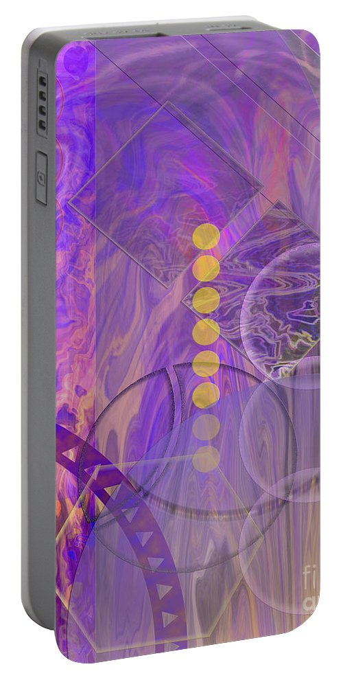 Lunar Impressions 3 Portable Battery Charger featuring the digital art Lunar Impressions 3 by John Beck