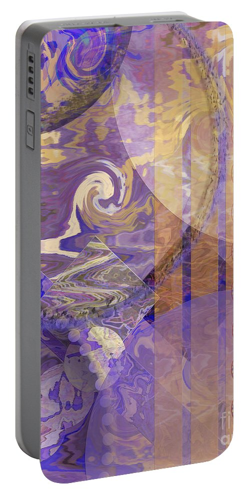 Lunar Impressions Portable Battery Charger featuring the digital art Lunar Impressions by John Beck