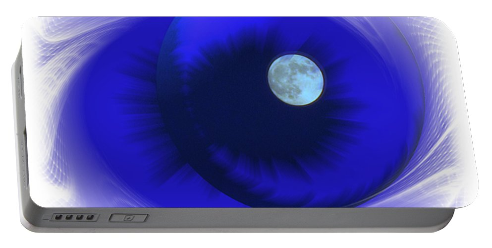 Moon Portable Battery Charger featuring the photograph Lunarblue by Joyce Dickens