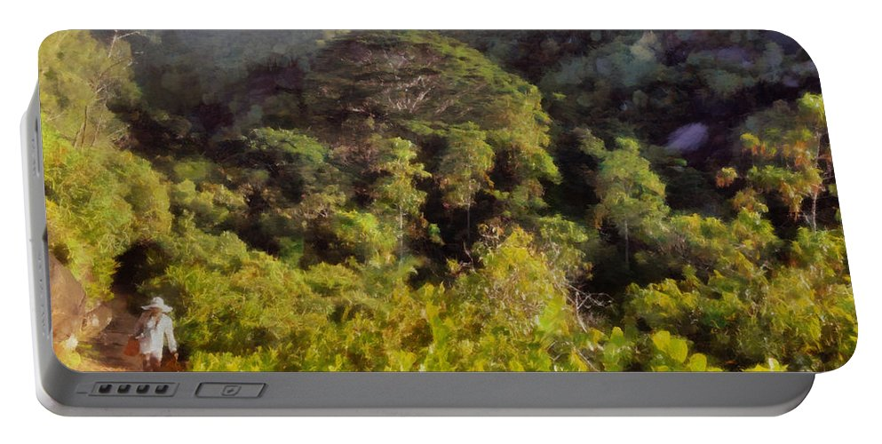 Trek Portable Battery Charger featuring the photograph Lush Greenery While Trekking by Ashish Agarwal
