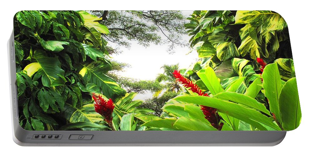 St Kitts Portable Battery Charger featuring the photograph Lush by Ian MacDonald