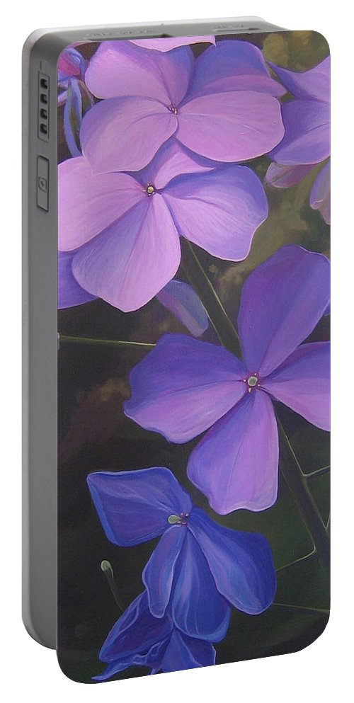 Closeup Of Colorado Wildflower Near Durango Portable Battery Charger featuring the painting Lush Life by Hunter Jay