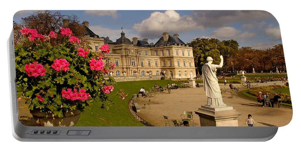 Luxembourg Palace Portable Battery Charger featuring the photograph Luxembourg Palace by Mick Burkey