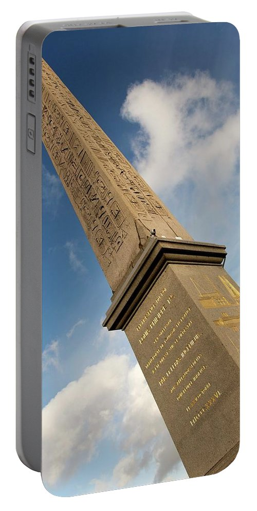 Obelisk Portable Battery Charger featuring the photograph Luxor Obelisk by Hany J