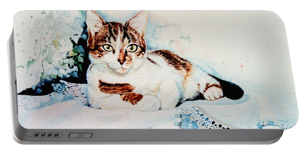 Painting Of Tyke Portable Battery Charger featuring the painting Luxury Lounge by Hanne Lore Koehler