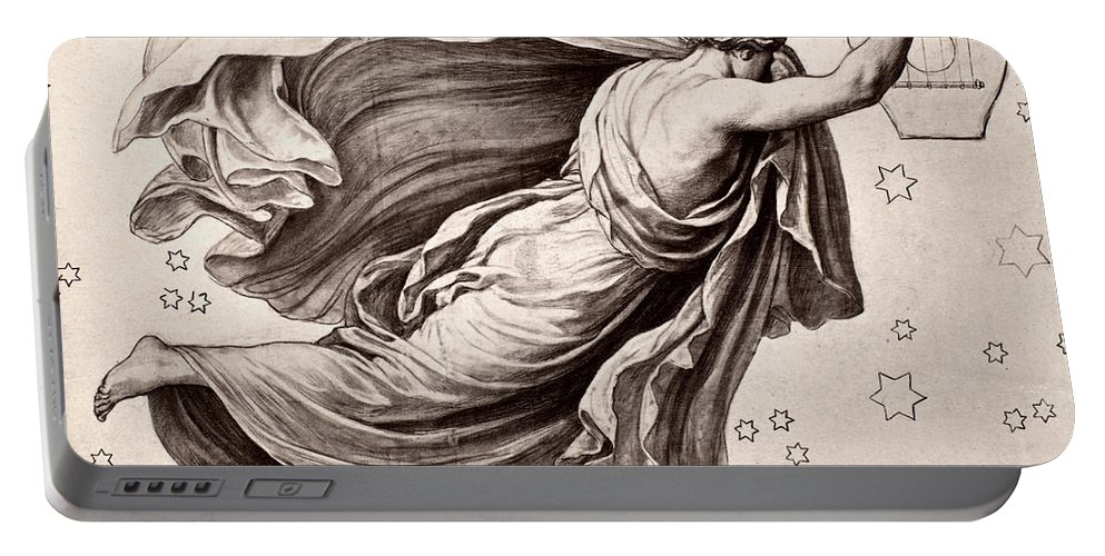 Ancient Portable Battery Charger featuring the photograph Lyre Of Orpheus by Granger