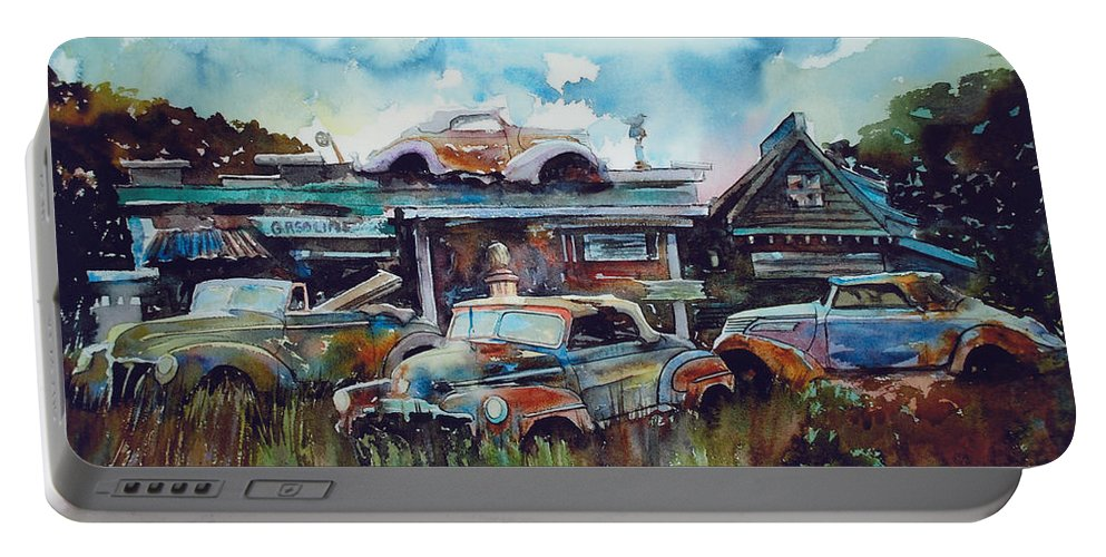 Fords Portable Battery Charger featuring the painting Lytton Station by Ron Morrison