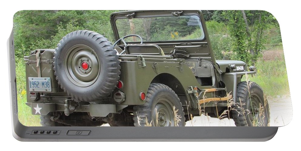 Jeep Portable Battery Charger featuring the photograph M38 by Juli Kreutner