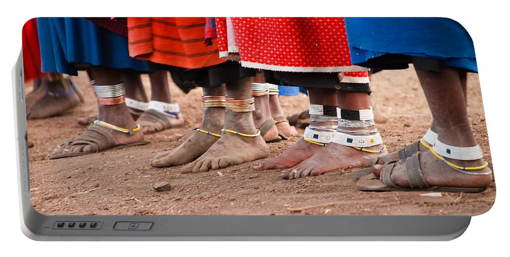 3scape Photos Portable Battery Charger featuring the photograph Maasai Feet by Adam Romanowicz