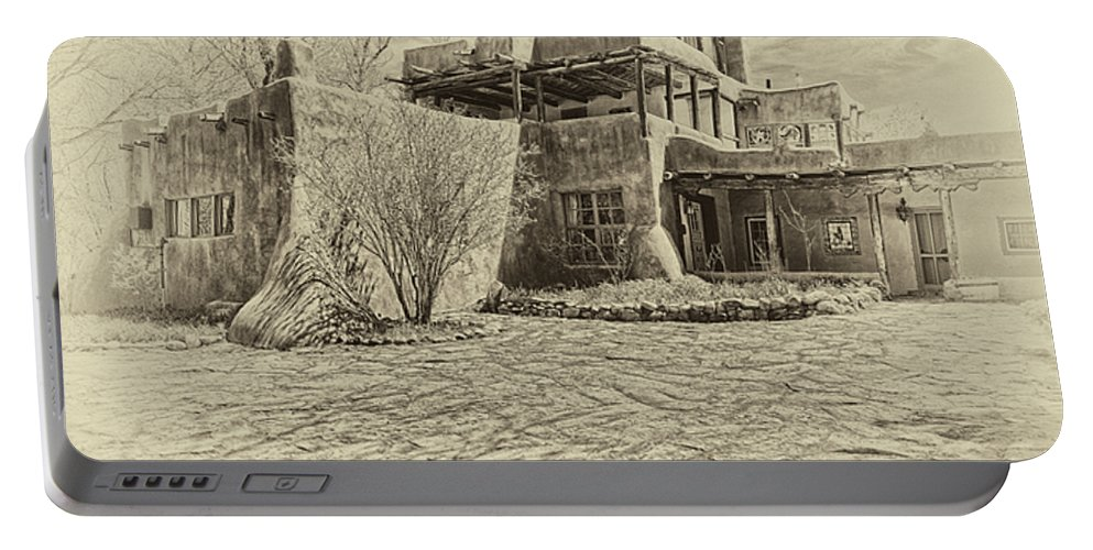 Mabel Portable Battery Charger featuring the digital art Mabel's House As Antique Print by Charles Muhle