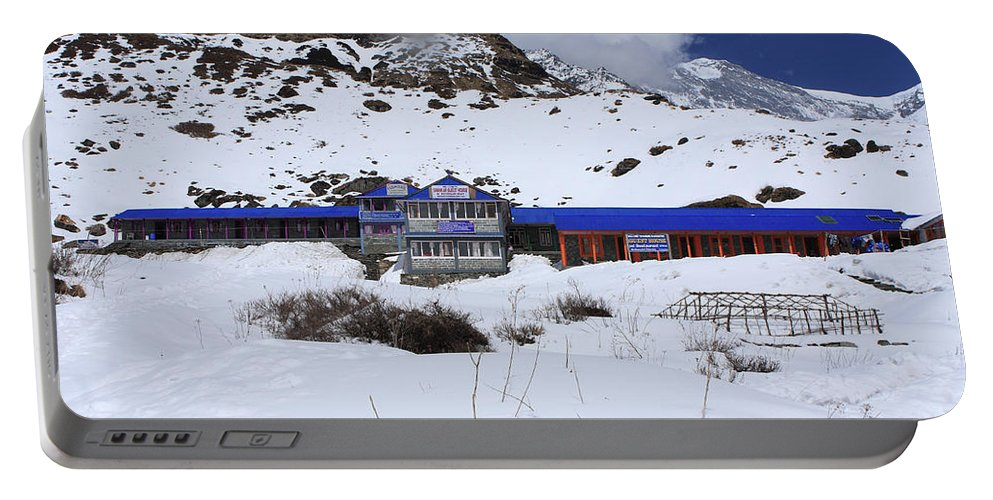 Nepal Portable Battery Charger featuring the photograph Machhapuchchhre Base Camp by Aidan Moran