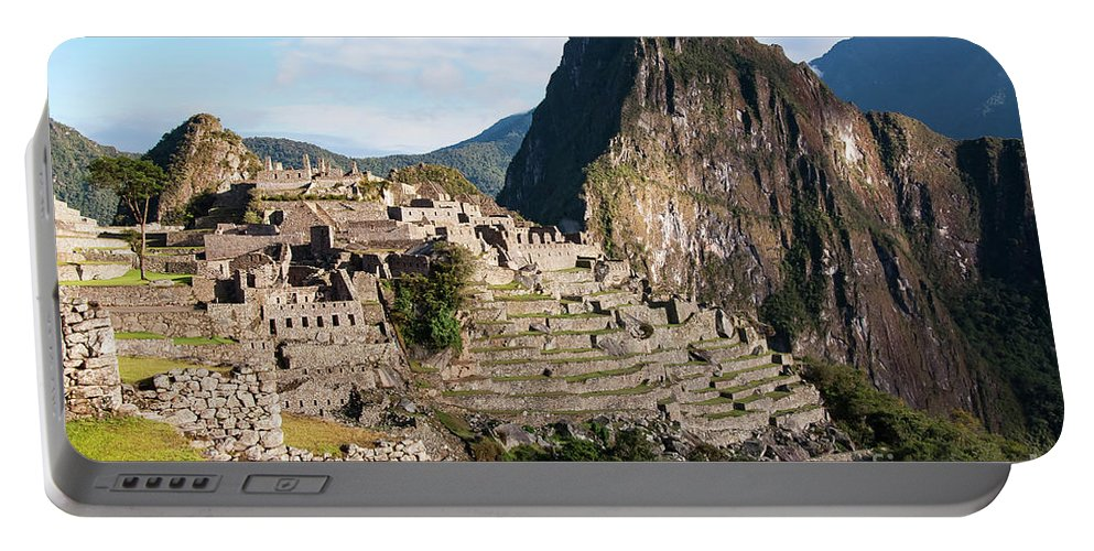 Machu Picchu Portable Battery Charger featuring the photograph Machu Picchu by Bob Phillips