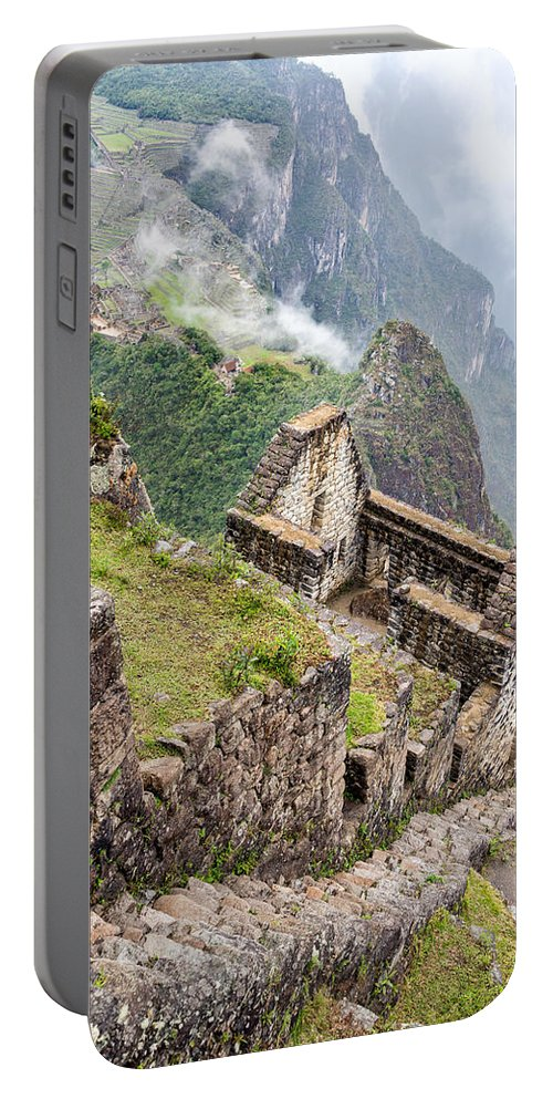 Machu Picchu Portable Battery Charger featuring the photograph Machu Picchu From Huayna Picchu by Jess Kraft