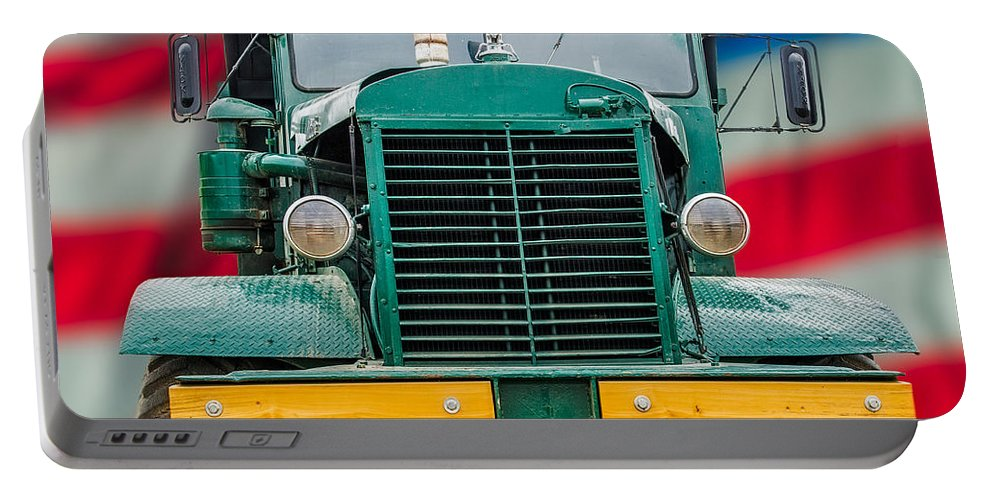 Mack Portable Battery Charger featuring the photograph Mack Dump Truck by Paul Freidlund