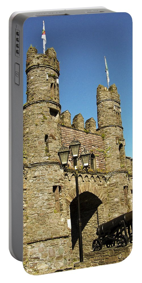 Irish Portable Battery Charger featuring the photograph Macroom Castle County Cork Ireland by Teresa Mucha