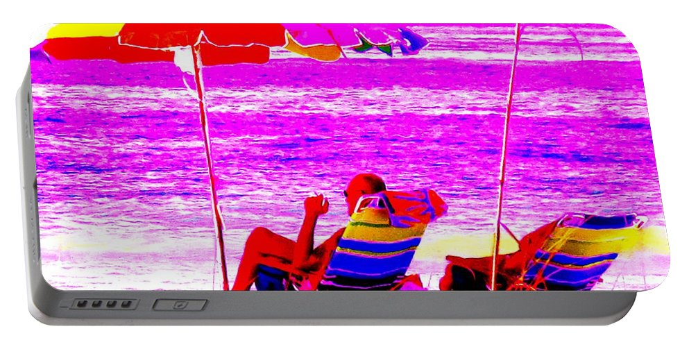 Beach Portable Battery Charger featuring the photograph Mad Dogs Mid Day Sun by Ian MacDonald