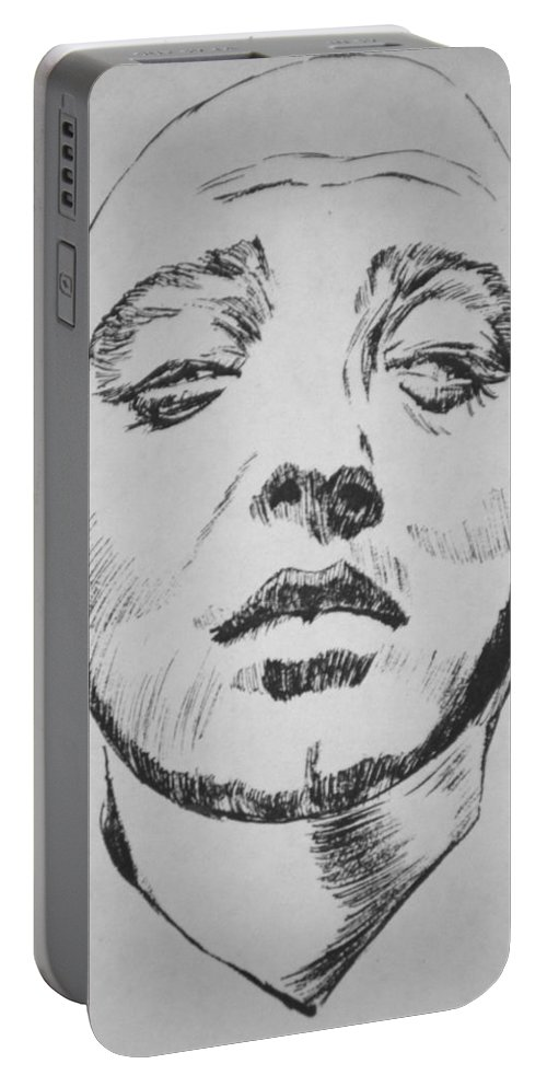 Peter Lorre Portable Battery Charger featuring the painting Mad Love by Bryan Bustard