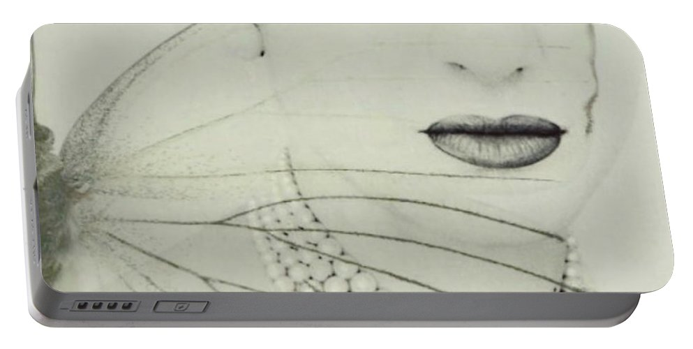 Maria Callas Portable Battery Charger featuring the digital art Madam Butterfly - Maria Callas by Paul Lovering